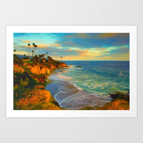 Laguna Beach California Art Print
