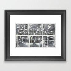 Fade 2 Grey Framed Art Print