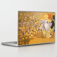 gustav klimt Laptop & iPad Skins featuring Gustav Klimt - The Woman in Gold by Elegant Chaos Gallery