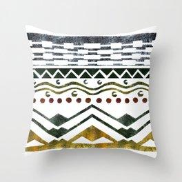 Ethnic Stencil Throw Pillow
