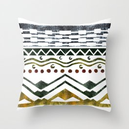 Ethnic Stencil Throw Pillow