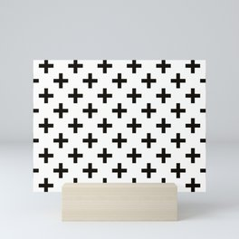 Crosses | Criss Cross | Plus Sign | Hygge | Scandi | Black and White | Mini Art Print