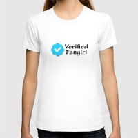 fangirl T-shirts featuring Verified Fangirl by AliyaStorm