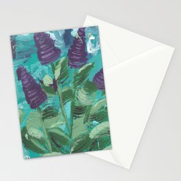 Abstract Lupins Stationery Cards