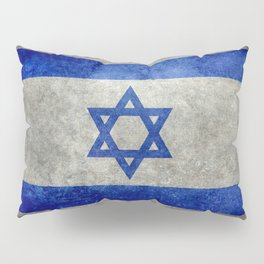Flag of the State of Israel - Distressed worn patina Pillow Sham