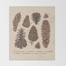 Pinecones Throw Blanket