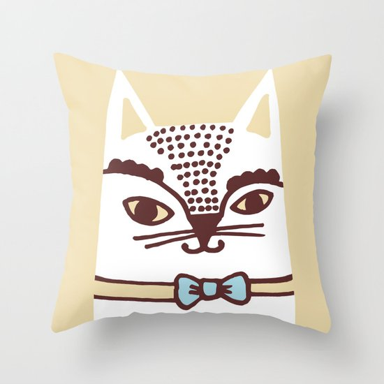 Katze #3 Throw Pillow