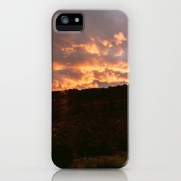 Sunset at the Navajo Indian Reservation in New Mexico | USA travel photography iPhone Case