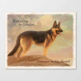 Bravery in Service Canvas Print