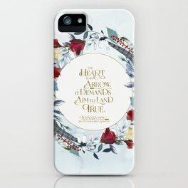 The heart is an arrow... Six of Crows Quote iPhone Case