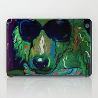 poodle iPad Cases featuring Green Poodle by Juliette Caron