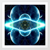 stargate Art Prints featuring Pleiadian Stargate by cosmik culture