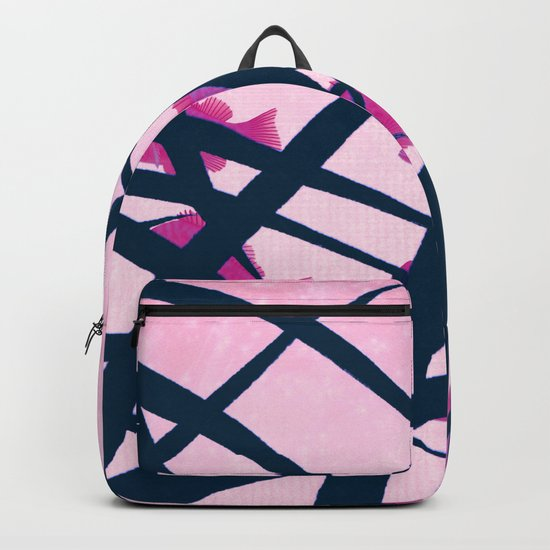 pink fish Backpack