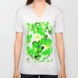 Floral Easter Egg Unisex V-Neck