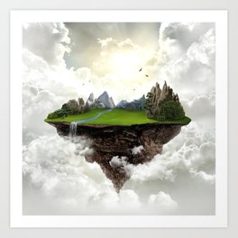 The island of silence Art Print