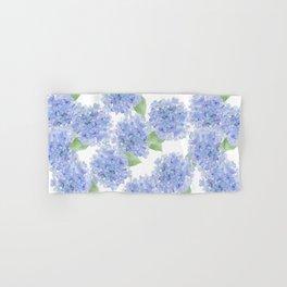 Elegant lavender lilac watercolor hydrangea floral Hand & Bath Towel