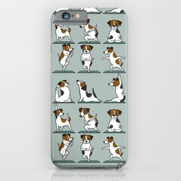 Jack Russell Terrier Yoga iPhone Case