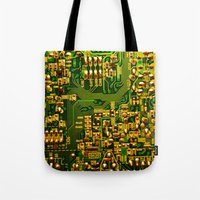 tv Tote Bags featuring Television by StevenARTify