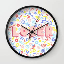 LOSER Wall Clock