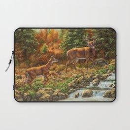 Deer and Waterfall Laptop Sleeve