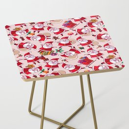 Santa Gift Pattern Side Table