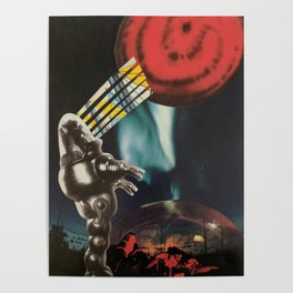 Red Planet Collage Poster
