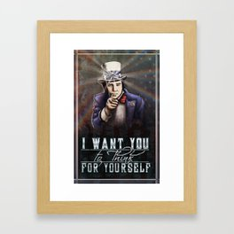 Bill Hicks Conscience Propoganda Framed Art Print