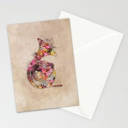 French horn Stationery Cards