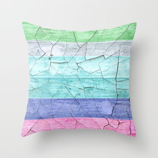 BEACH WOOD Throw Pillow