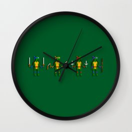 Pubescent Deformed Karate Reptiles Wall Clock