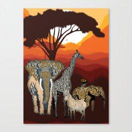 Jungle Jumble Canvas Print