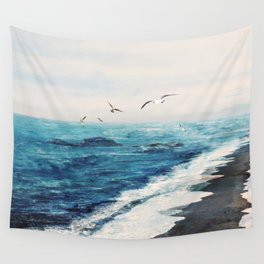 Watercolor Coast Wall Tapestry