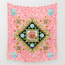 Pink Pansy Cottage Wall Tapestry