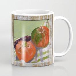 Pumpkin, Tomato and Corn Still Life Coffee Mug