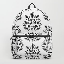 I am a wild thing Backpack