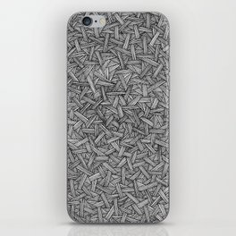 Abstract circle line drawing iPhone Skin