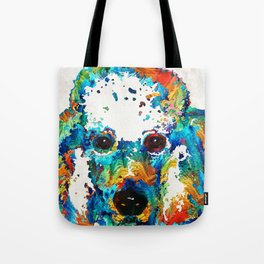 Colorful Poodle Dog Art by Sharon Cummings Tote Bag