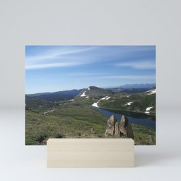 Snowy Summer Mountains Mini Art Print