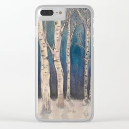 Birch Grove At Midnight Clear iPhone Case