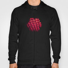 Abstract Color Pattern in Red Hoody