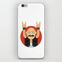 rock and roll iPhone & iPod Skins featuring Rock&Roll by Gerardo Lisanti