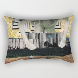 Urban Displacement Rectangular Pillow