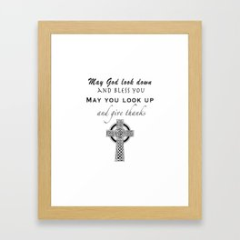 Irish Blessing and Cross Framed Art Print