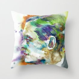 t. s. eliot - WATERCOLOR PORTRAIT Throw Pillow