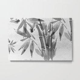 Bamboo Tree Watercolor Metal Print