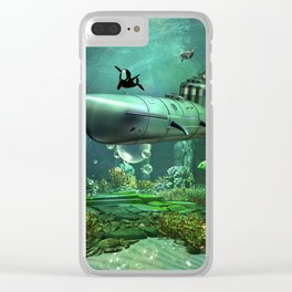 Awesome submarine Clear iPhone Case