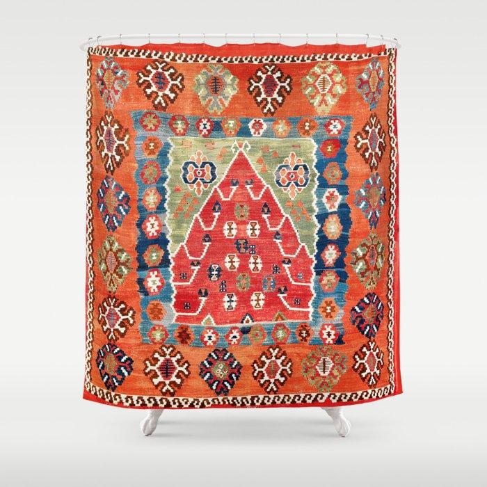 Bayburt Northeast Anatolian Niche Kilim Print Shower Curtain