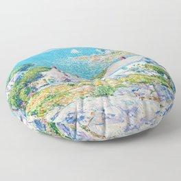 Frederick Childe Hassam - New England Headlands - Digital Remastered Edition Floor Pillow