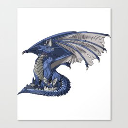 Blue Water Dragon Mythological Creature Gift Canvas Print