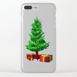 Lonely Christmas Tree Clear iPhone Case